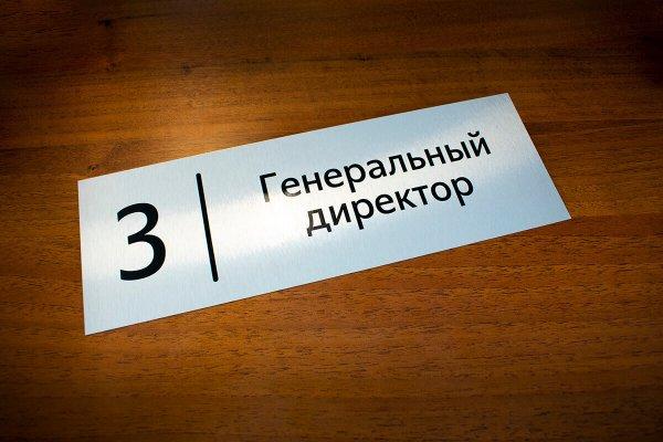Металлическая табличка на кабинет